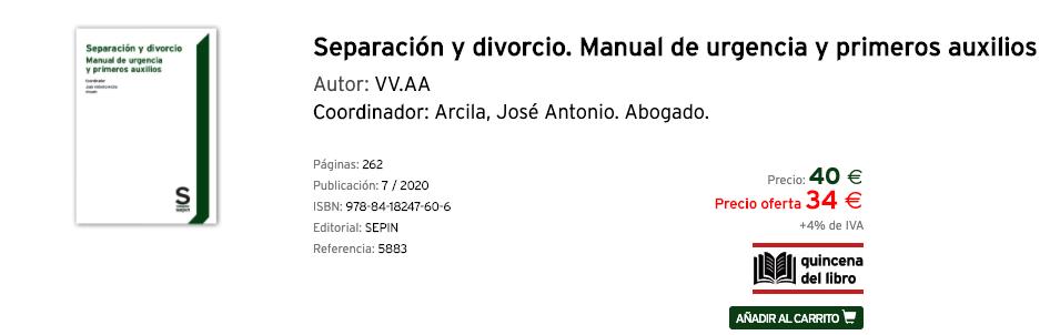 """Publicación del libro """"Separación y divorcio. Manual de urgencia y primeros auxilios"""""""
